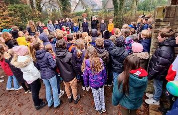 Knikkertegel Bussumse Montessorischoolop