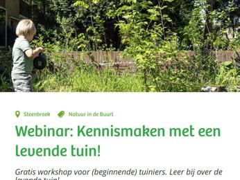 Volg morgen de workshop om van je tuin of balkon een plek te maken vol biodiversiteit