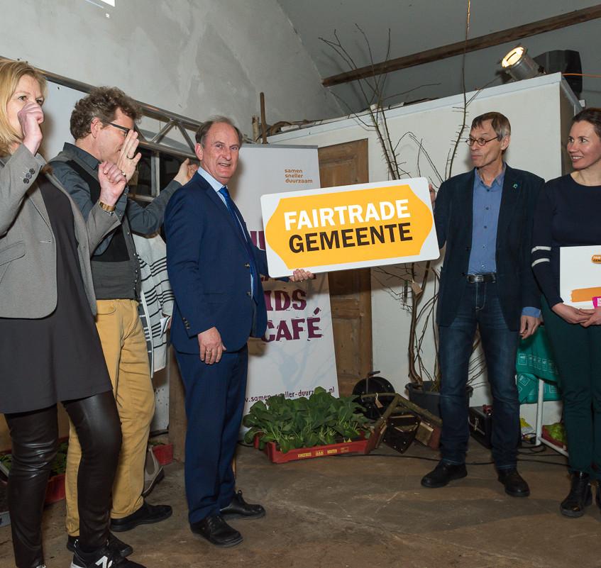 Uitreiking Fairtrade titel aan GM
