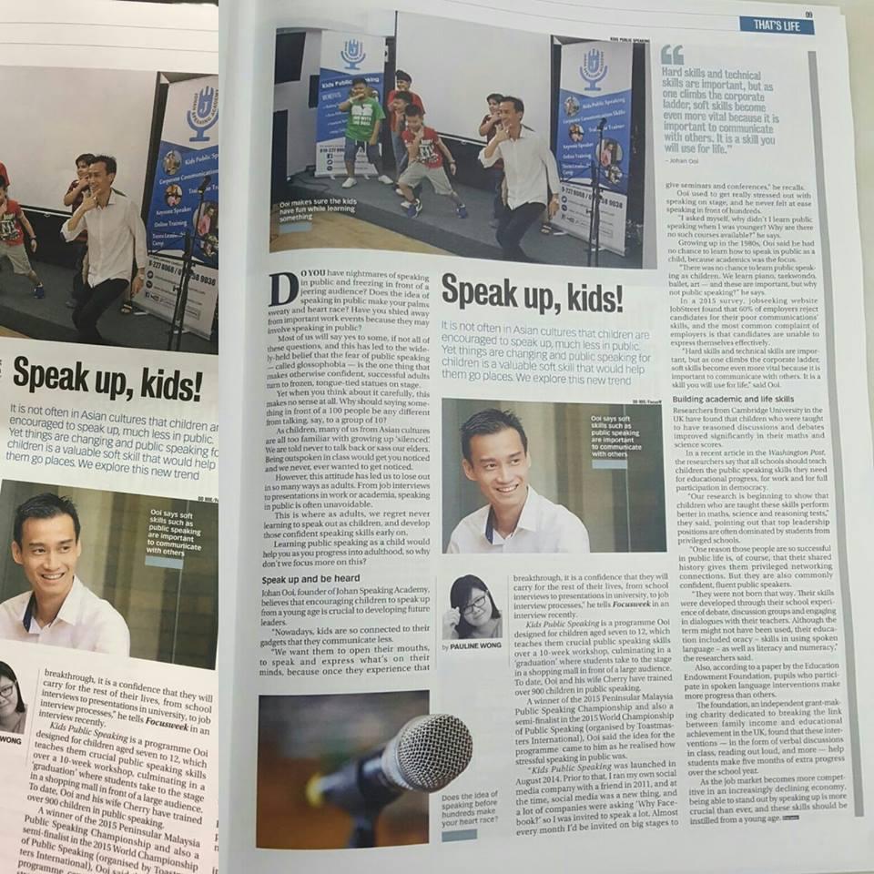 Johan Speaking Academy Focus Malaysia