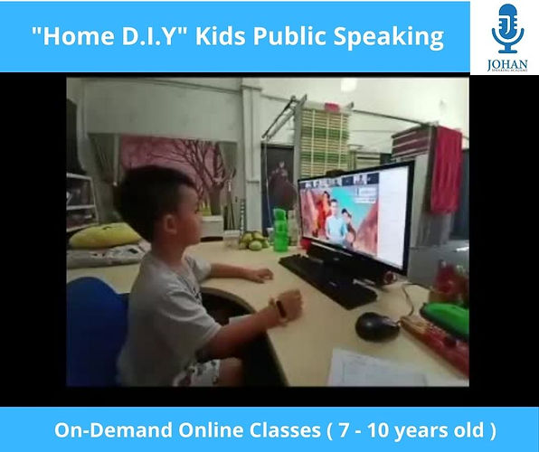 Online Kids Public Speaking Home DIY Edi