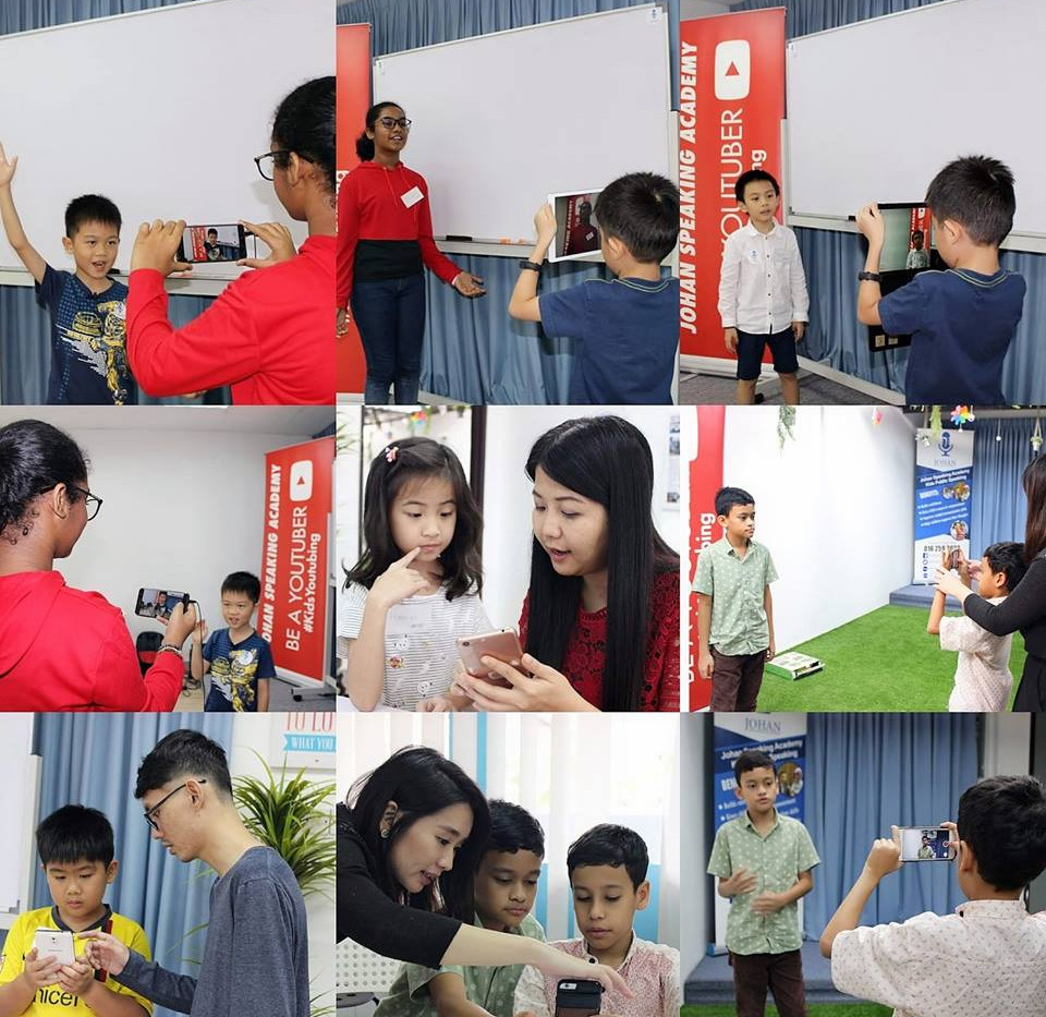 kids youtubing johan speaking academy (1