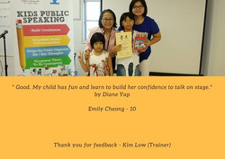 Parent's Testimony - Kids Public Speaking