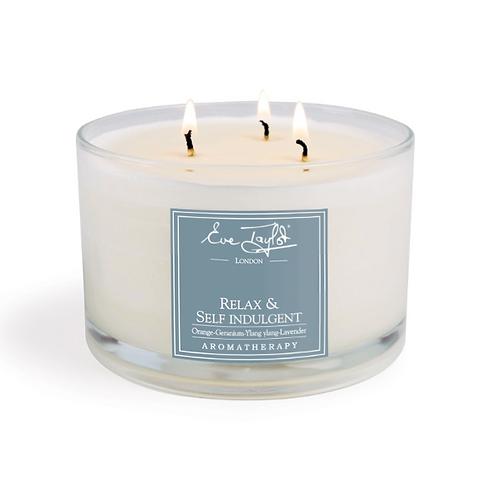 Relax & Self Indulgent 3 Wick Massage Candle