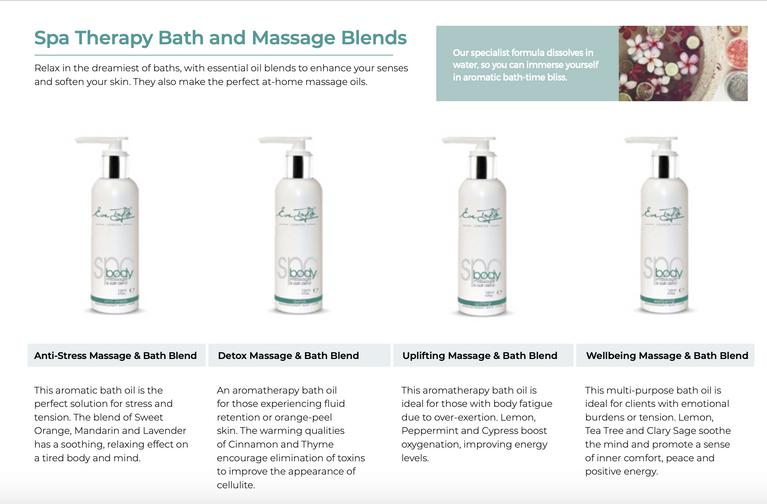 Eve Taylor Spa Bath and Massage Blends