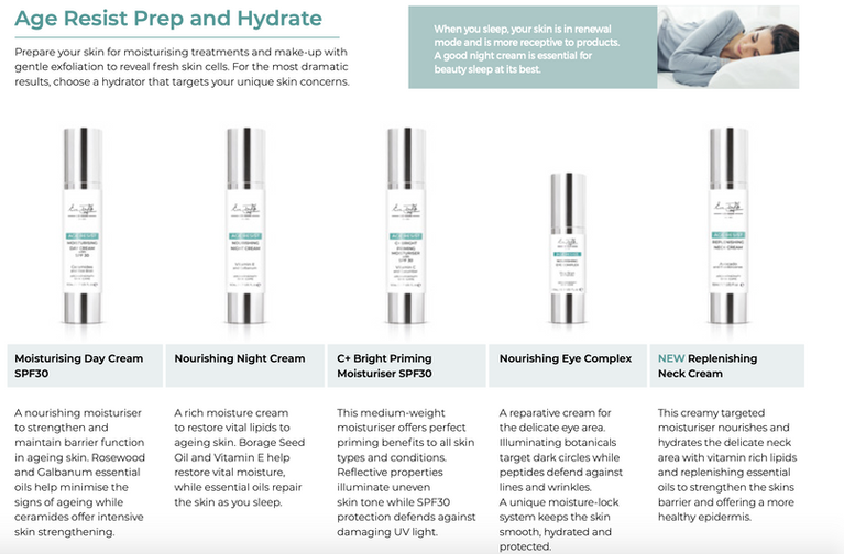 Eve Taylor Age Resist Prep and Hydrate Skincare