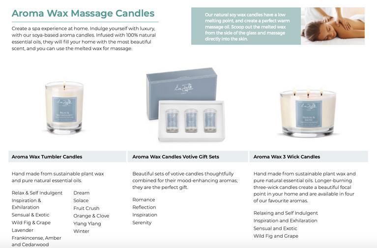 Eve Taylor  Wax Massage Candles