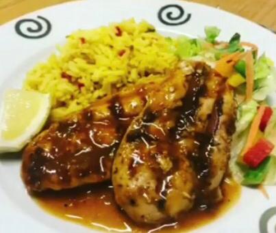 Peri Peri Chicken and Yellow Tastic Spice Rice