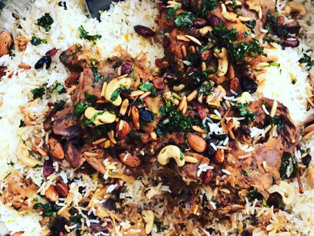 Arabic Roast Lamb Leg and Rice