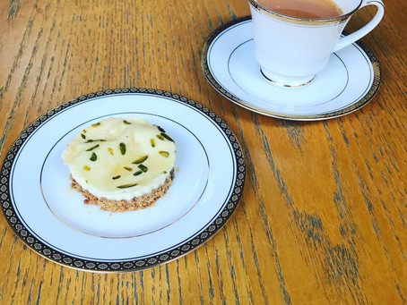 Pistachio Cheesecake and Saffron Flavoured Chai