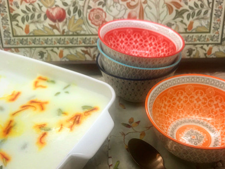 Saffron, Pistachio and Cardamon Agar Agar Pudding