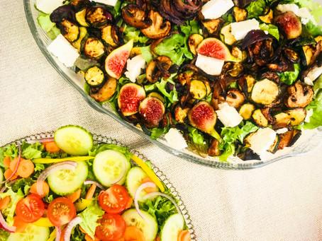 Roasted Vegetables, Feta and Fig Salad