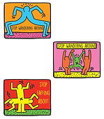 keith haring stickers