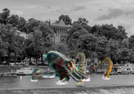 kraken attacks the canal
