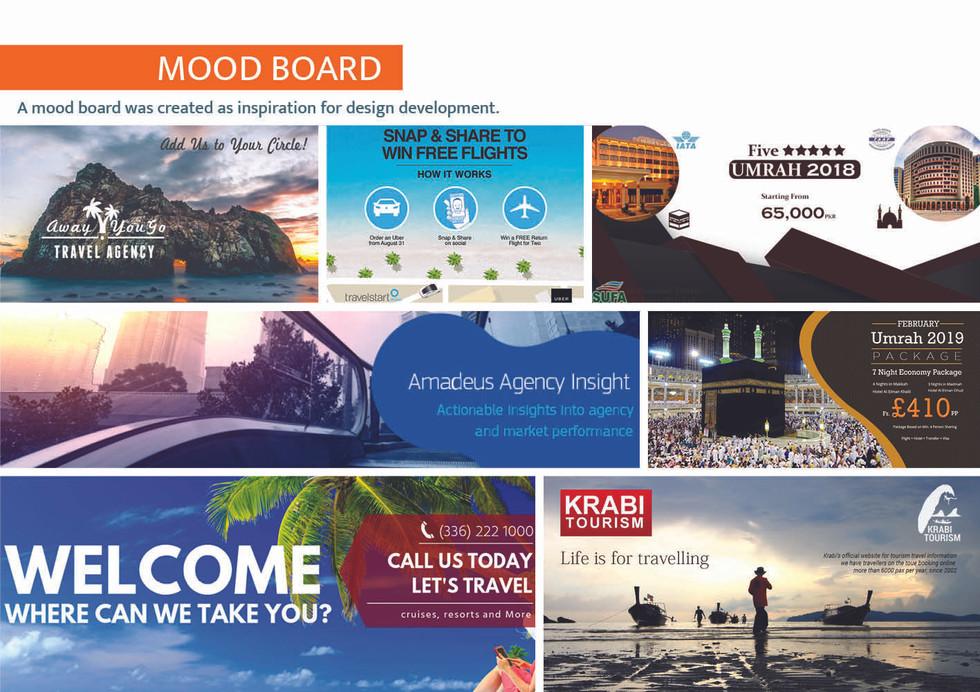 Almas Travel Shop - Moodboard