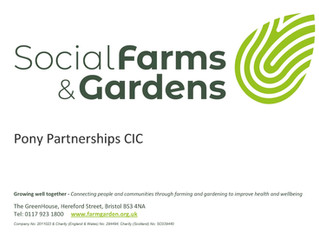 Membership of Social Farms and Gardens.