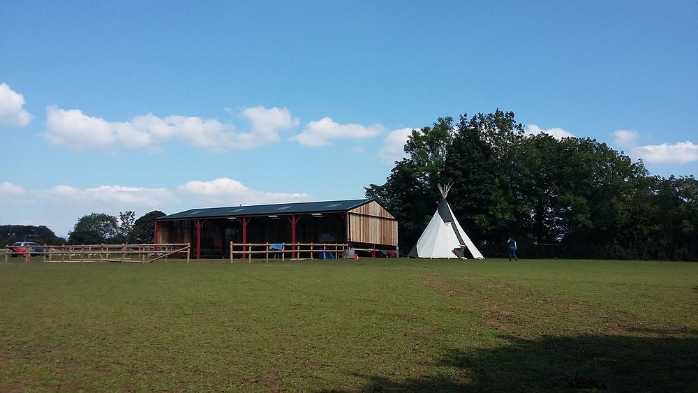 The barn and teepee
