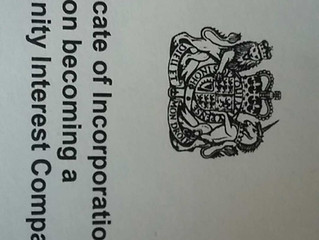 We're now officially a Community Interest Company!