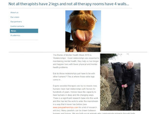 Derby University Online - supporting Equine Assisted Psychotherapy