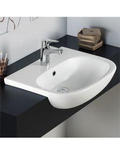 Duravit D-Code Semi-Recessed Basin 033955