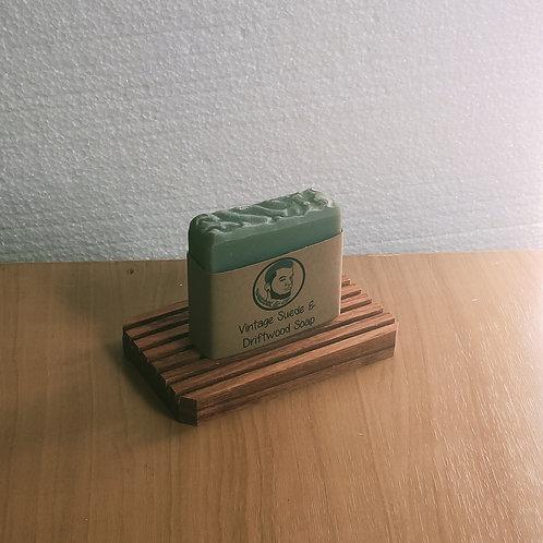 Vintage Suede & Driftwood Soap