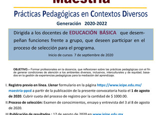 IEIPE LANZA CONVOCATORIA PARA SU PROGRAMA DE MAESTRÍA