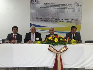 ENTREGA DE CONSTANCIAS DE TERMINACIÓN DE ESTUDIOS EN LA SEDE MATEHUALA