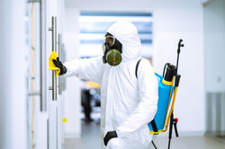 Cleaning and disinfection of office to p