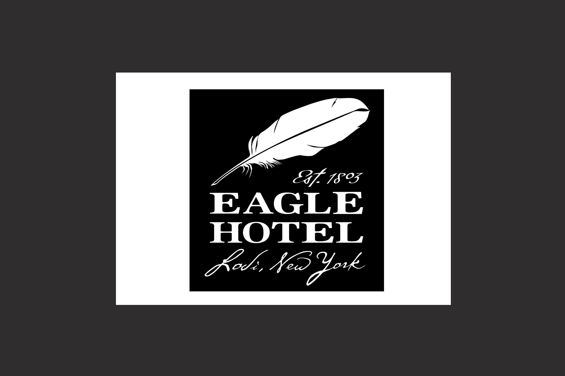 Eagle Hotel logo design
