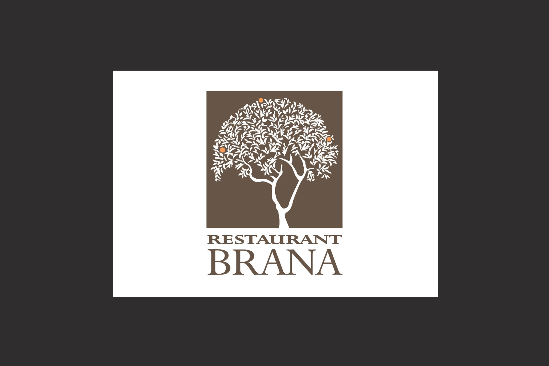 Restaurant Brana logo illustration