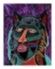 CatSpirit, mixed media, 16 x 20