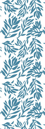 SkyDance, Leaf Shadow Repeat Pattern, Teal