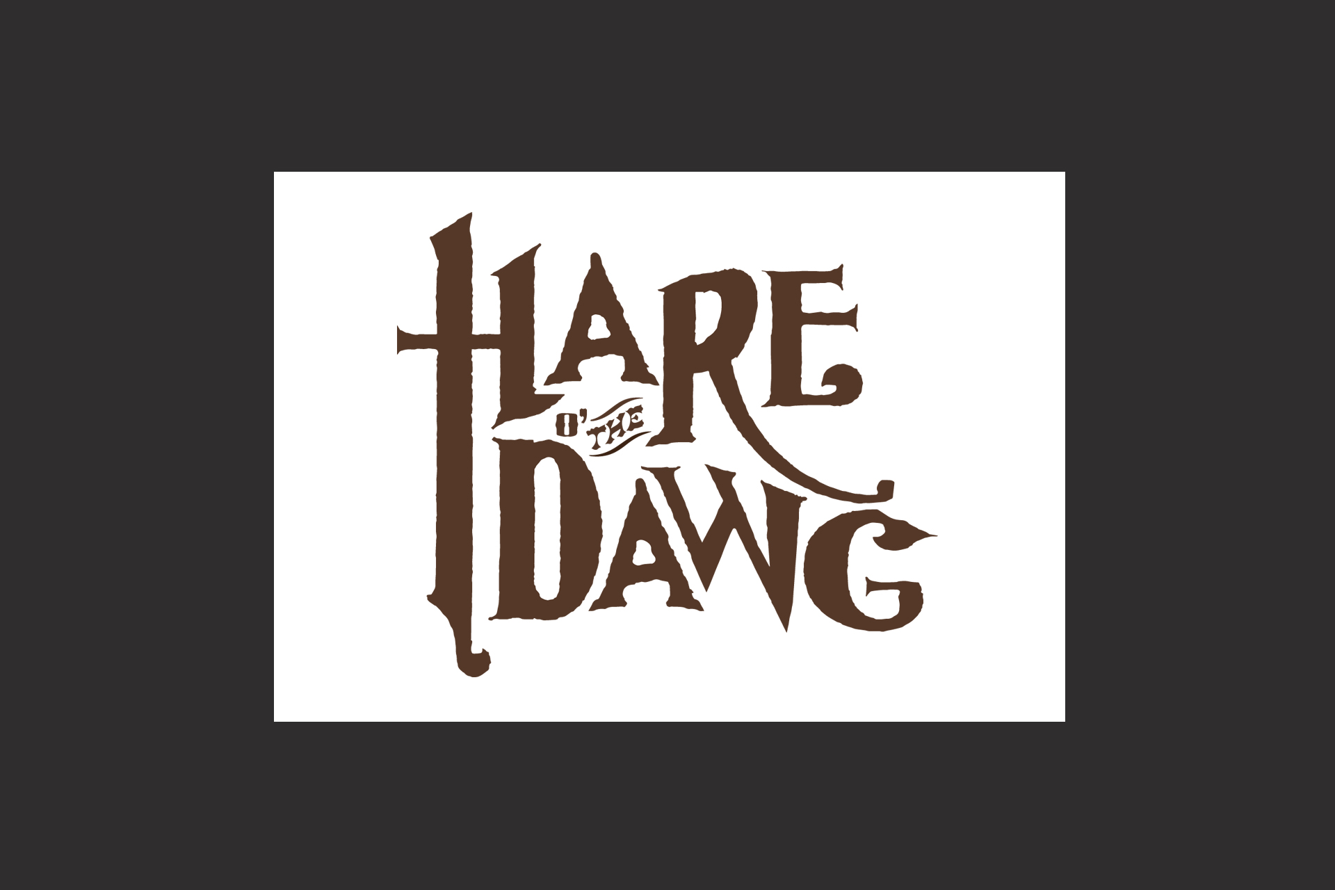 Hare o' the Dawg logo design