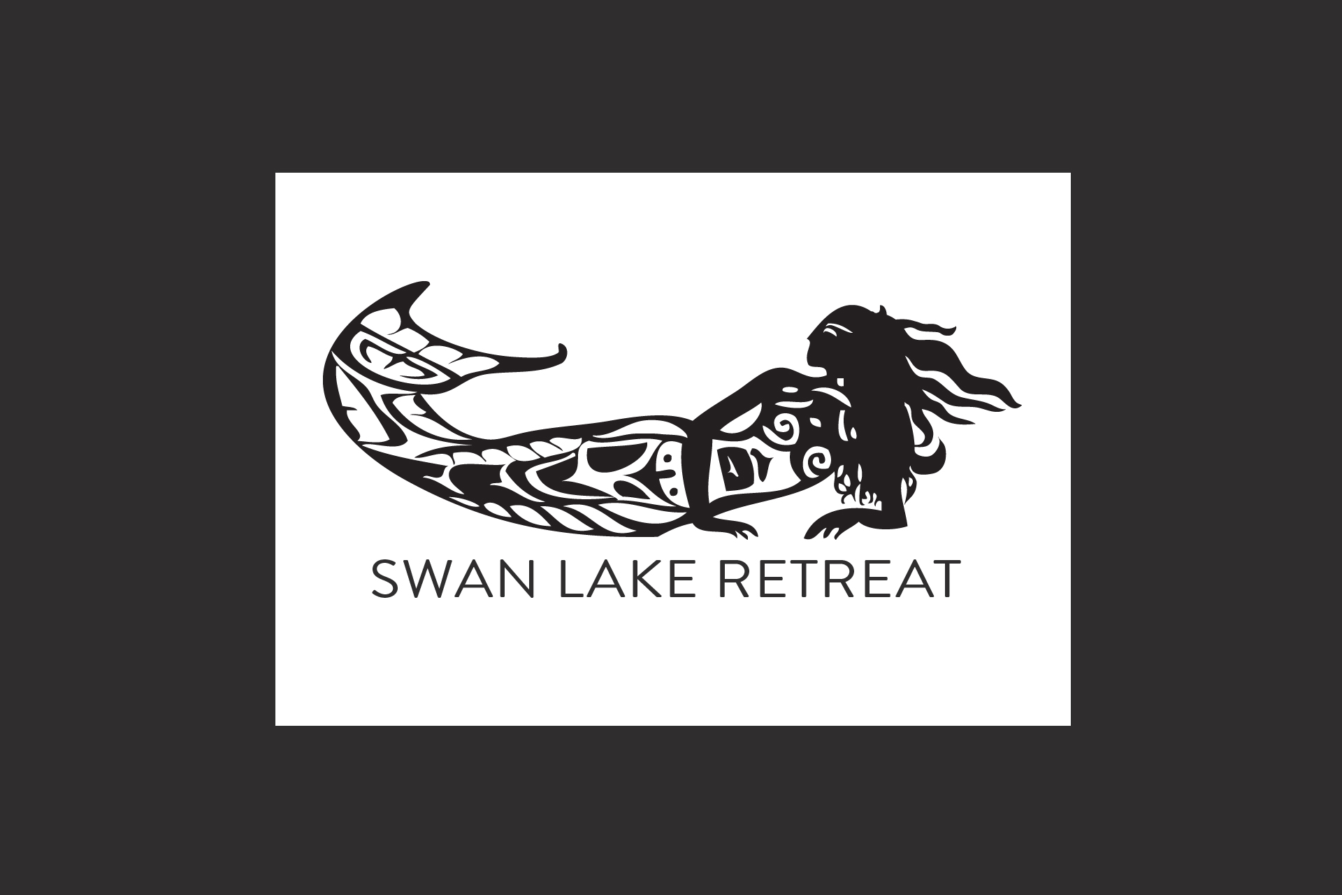 Swan Lake Retreat logo illustration