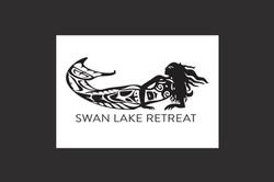 Swan Lake Retreat logo illustration