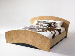 Contemporary wooden bed