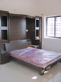 Full Bedroom Set with Wall Panneling