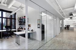 Office with Wooden floor