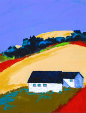 Two White Barns