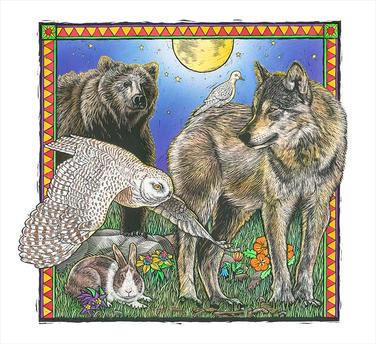 Wolf, Bear, & Owl