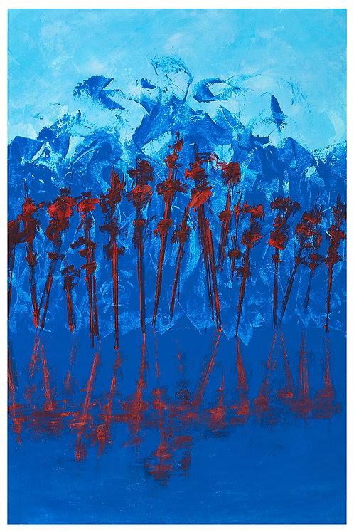 Blue Lake Red Trees