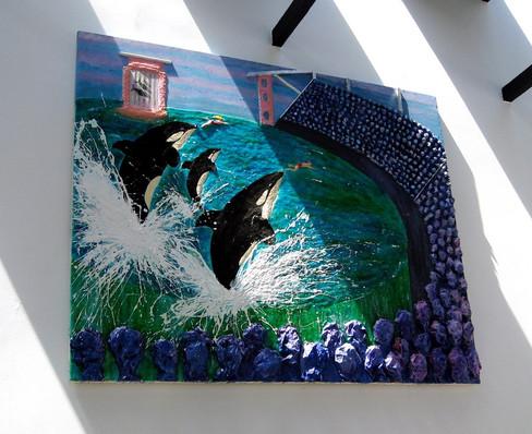 Killer Whaes in Captivity:wall 48%22x72.