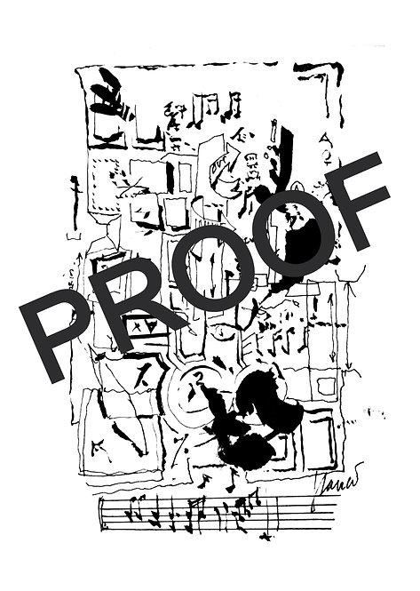 "8""x10"" Proof Print - Jerry Garcia Music Arts"