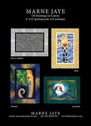 Set 1 Greeting Cards: 8 cards 9 envelopes