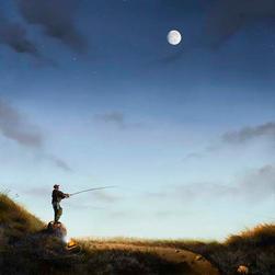 Rock Fishing By Moonlight 1