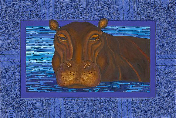 18x24 Hippo