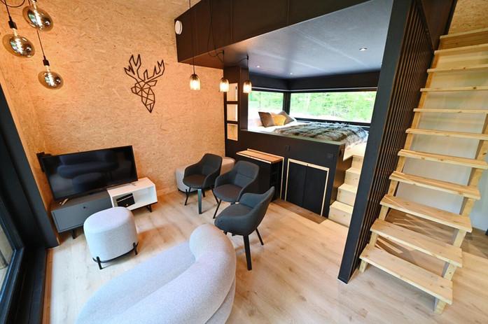 Leefkamer met loungebox