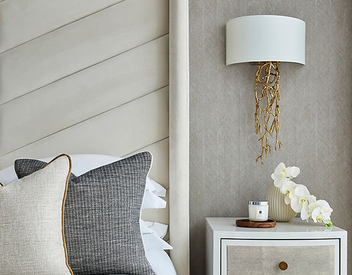 Luxurious showhome bedroom interiors