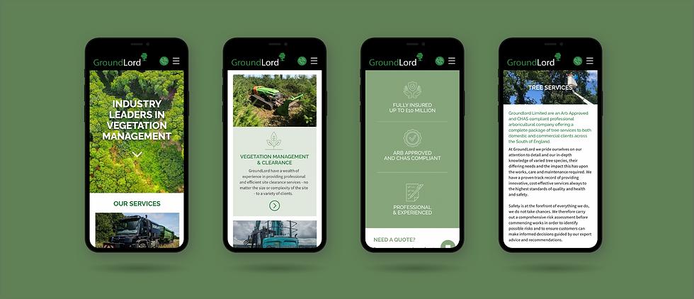 groundlord website design mobile screens