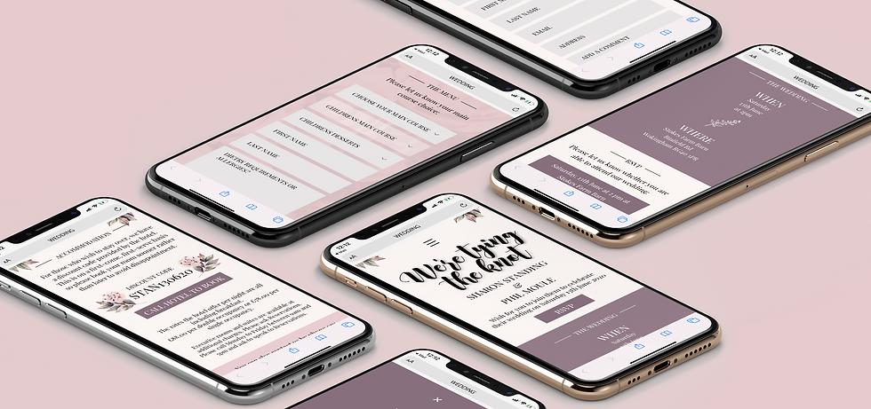Wedding website design